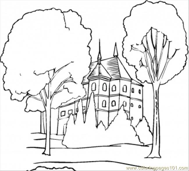 N In The Forest Coloring Page Coloring Page - Free Forest Coloring