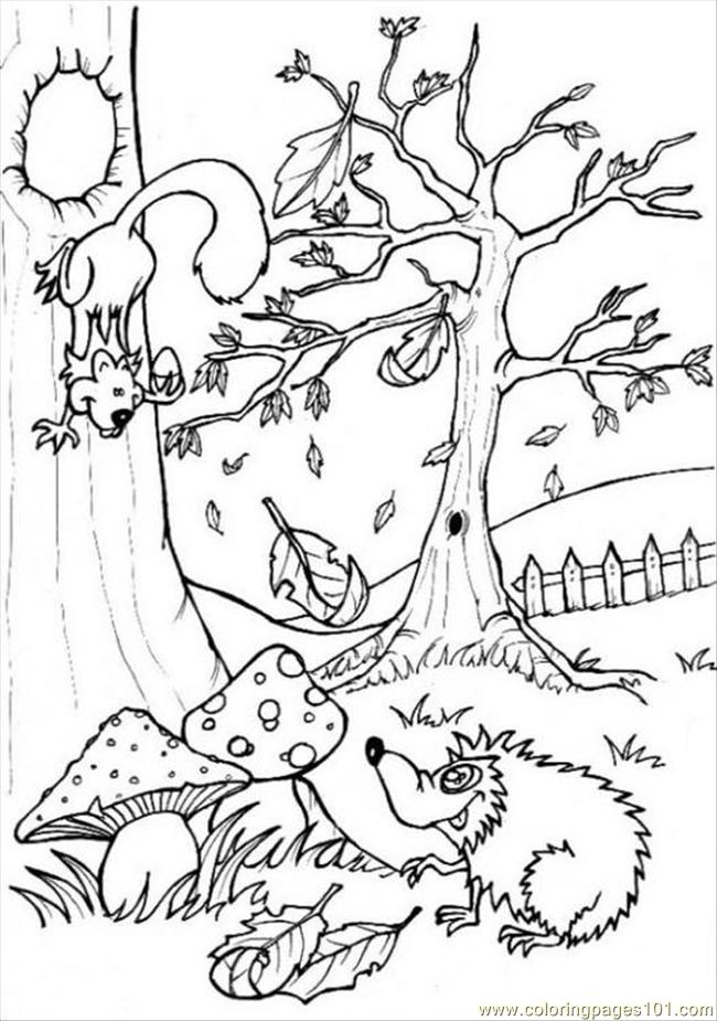 coloring page forest - Selol-ink