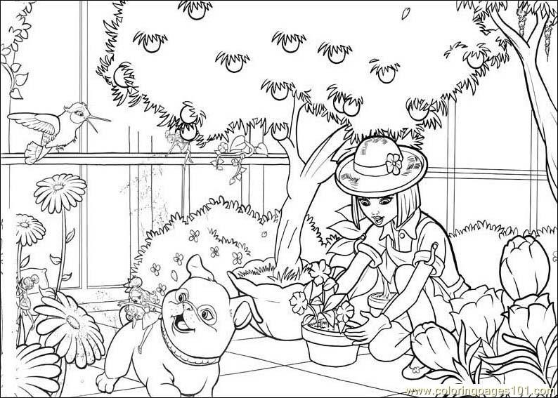 Barbie Thumbelina Coloring Page Free SaveEnlarge