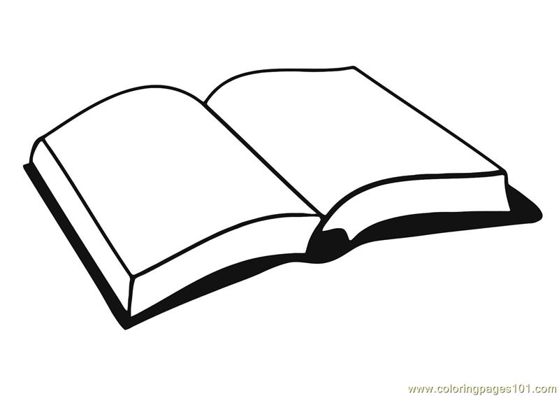 Open book Coloring Page - Free Books Coloring Pages - open book coloring pages