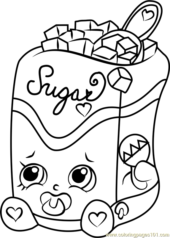 sugar lump shopkins coloring page