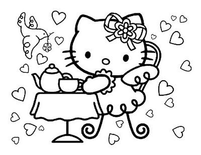 hello kitty birthday card ideas images HELLO KITTY BIRTHDAY - new snow coloring pages preschool