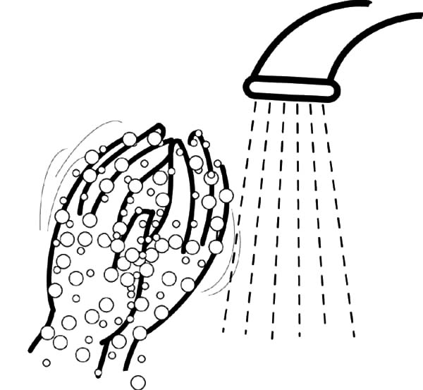 Washing Hand Bubbles Coloring Pages  Coloring Sun