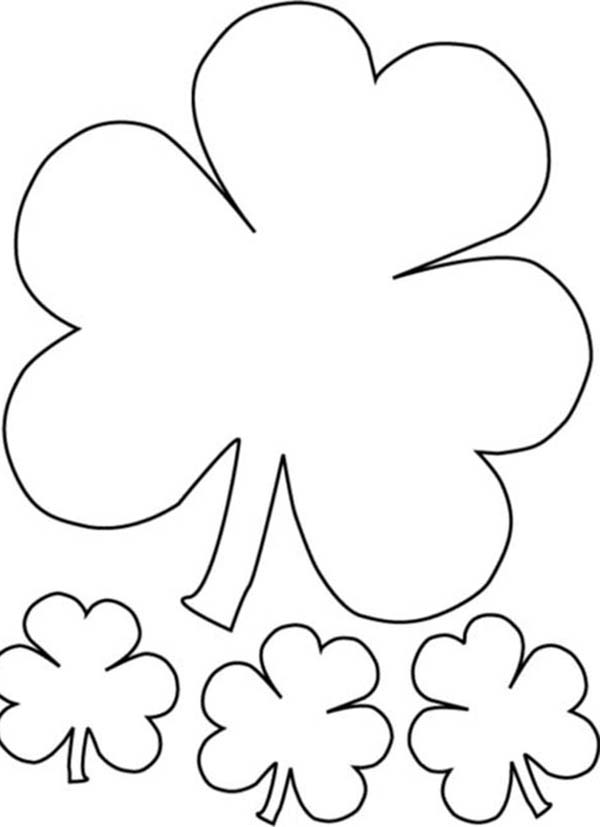 The Irish Called Three-Leaf Clover as Shamrock Coloring Page Color - shamrock color pages