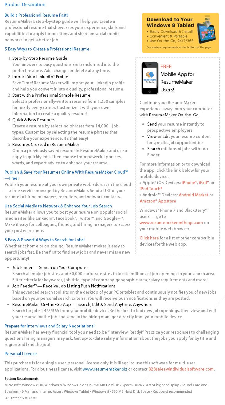 best resume maker