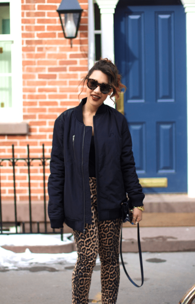 black-fashion-bloggers-black-fashion-bloggers-new-york-city-fashion-blogger-nyc-fashion-blogger-leopard-pants-how-to-wear-leopard-pants-conrtol-sector-bomber-control-sector-black-bomber-leopard-pants-2014-zara-leopard-pant-Untitled-10