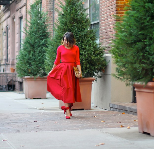 red dress red shoes red skirt red outfit holiday outfit red midi skirt full red midi skirt red midi skirt full midi skirt midi skirt red blogger look all red blogger look red look red outfit red style all red blogger look black fashion blogger black fashion blogger fashion blogger red bow shoes big red bow holiday look what to wear to a holiday party holiday party style holiday style