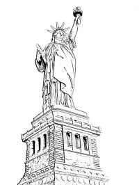 Amazing Statue of Liberty Coloring Page: Amazing Statue of