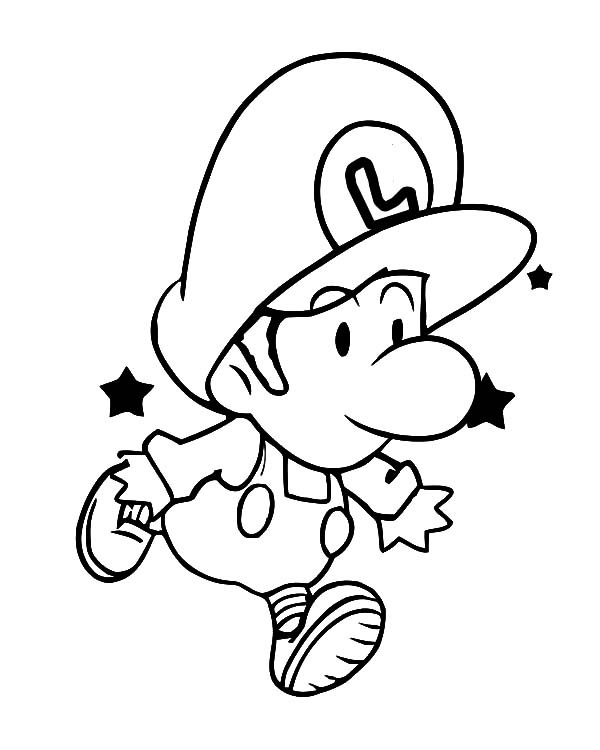 Baby Baby Mario And Luigi Coloring Pages Coloring Pages