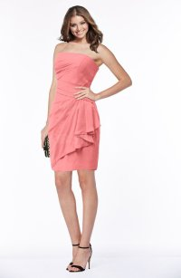 ColsBM Audrey Shell Pink Bridesmaid Dresses - ColorsBridesmaid