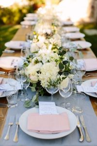 Romantic Dusty Blue and Blush Spring Wedding Ideas for