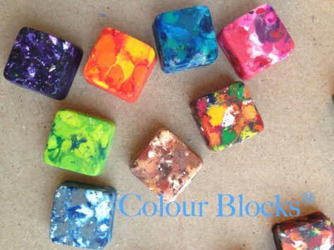 Donate Old Crayons |Colour Blocks Original Stackable Square Recycled