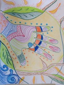 Adults crayon coloring therapeutic |combating stress