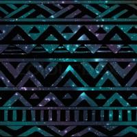 Hand Drawn Black Aztec Tribal Seamless Background Pattern ...