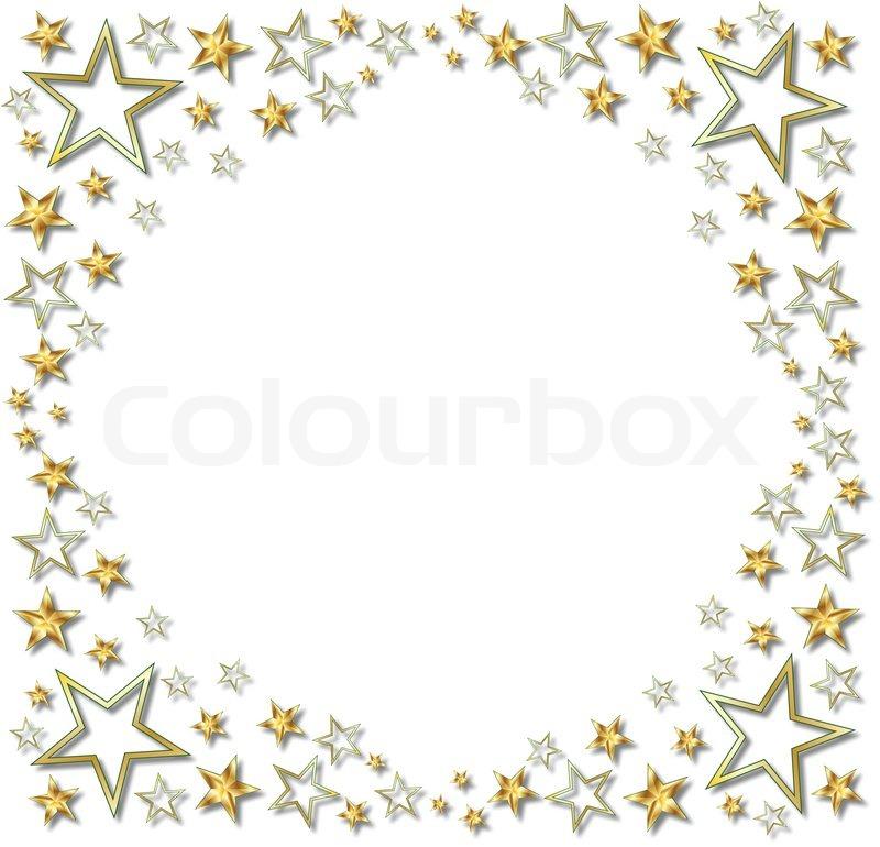 GOLD STAR BOARDER Stock Vector Colourbox