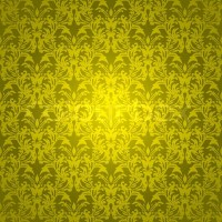 Golden yellow background with wallpaper design that