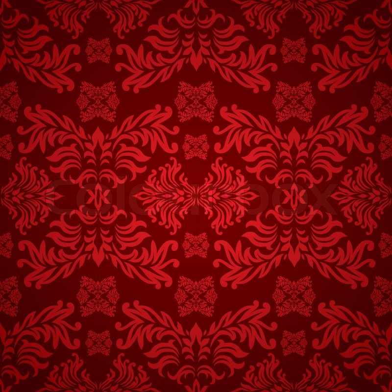 Fall Leaves Wallpaper Powerpoint Background Red And Maroon Floral Background With A Seamless Repeat