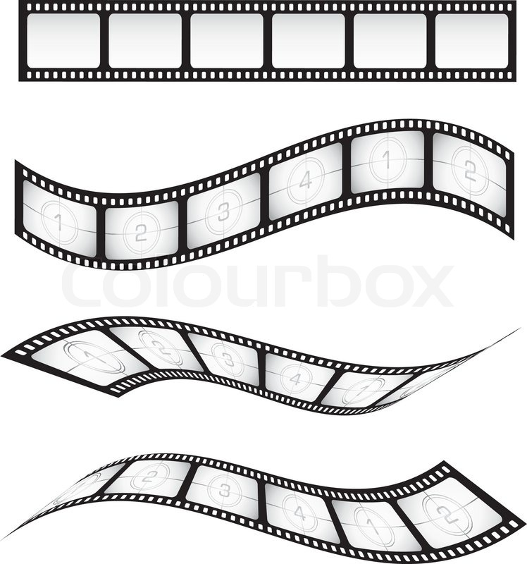Film strips Stock Vector Colourbox