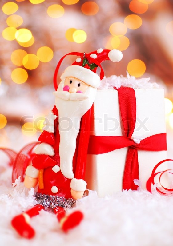 Animated Christmas Lights Wallpaper Holiday Background With Cute Santa Claus Christmas Tree