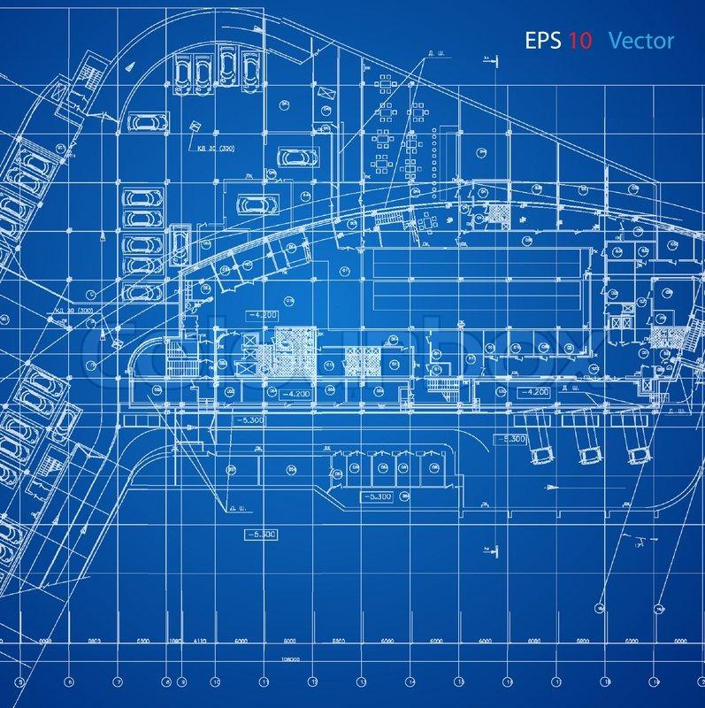 Falling Water Hd Wallpaper Urban Blueprint Vector Stock Vector Colourbox