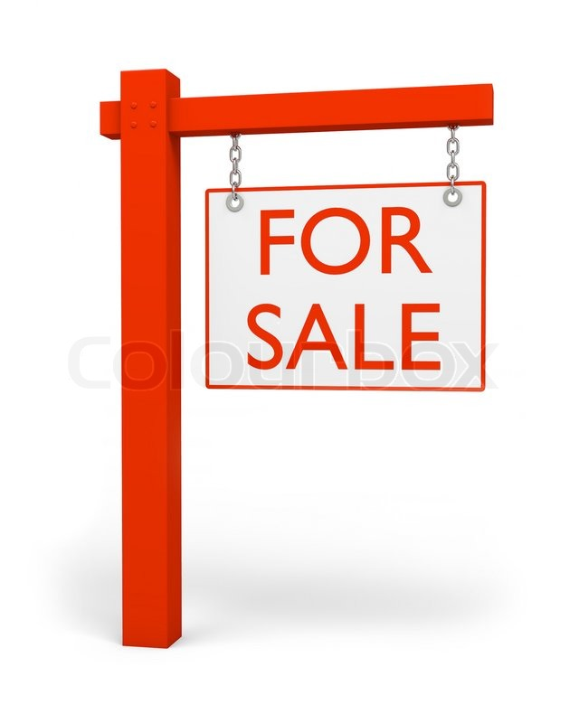 Red for sale sign Stock Photo Colourbox - forsale sign