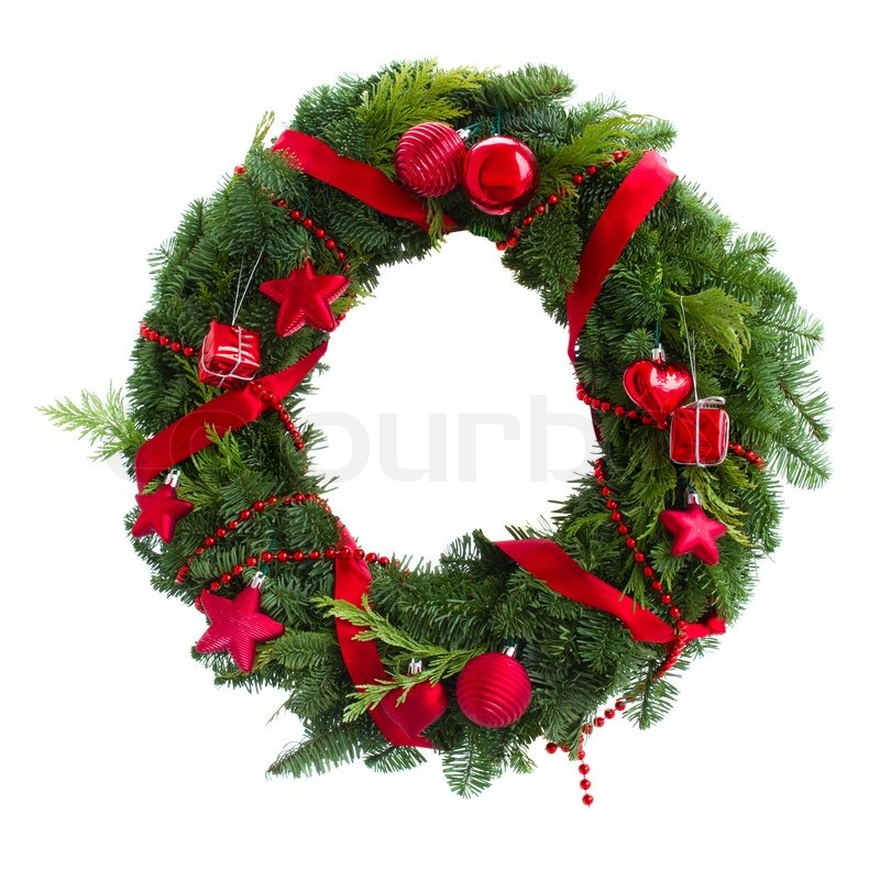 evergreen christmas tree circle decor pattern stock images