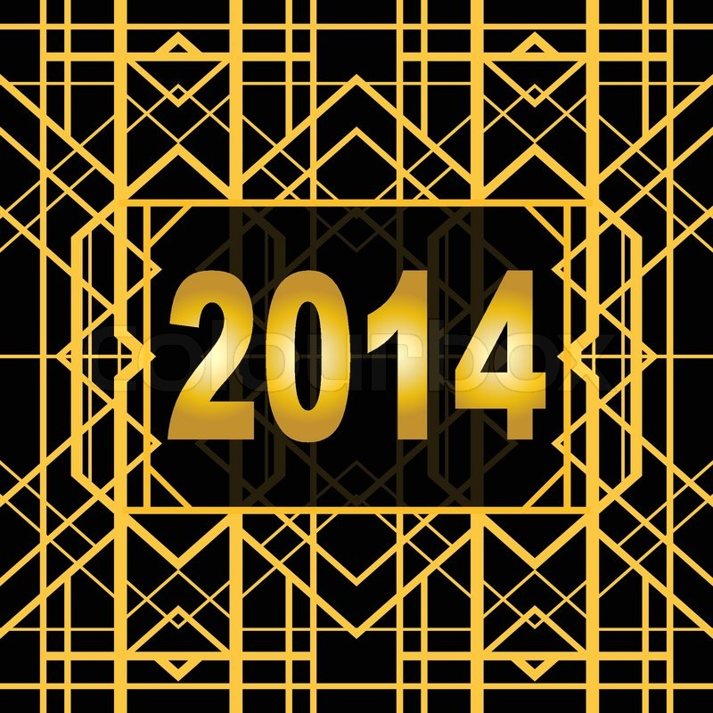 Art deco geometric pattern 1920 s style for new year