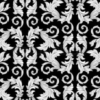 Victorian Pattern Background Black And White
