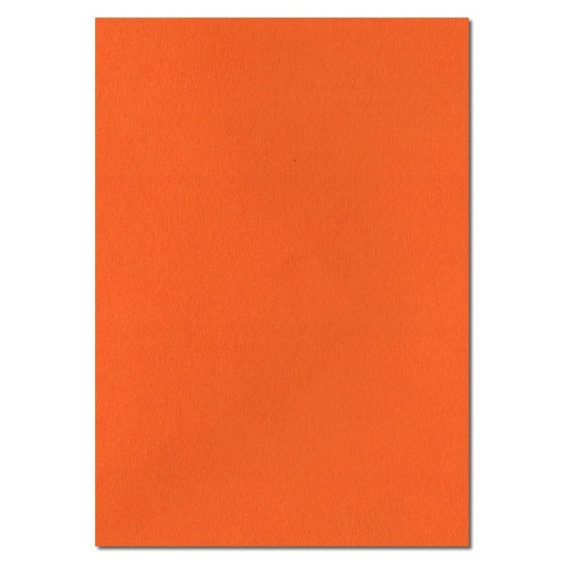 297mm x 210mm Orange Solid Paper Orange 100gsm Paper Coloured Paper