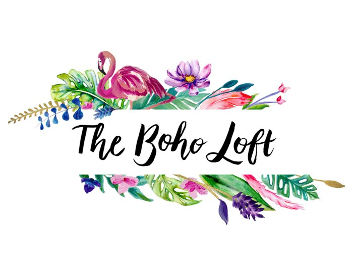 The Boho Loft logo design by Tegan Swyny of Colour Cult, Graphic Design Brisbane.