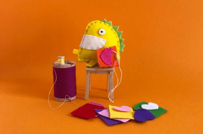 Coloured Buttons Easy Sewing Projects For Kids