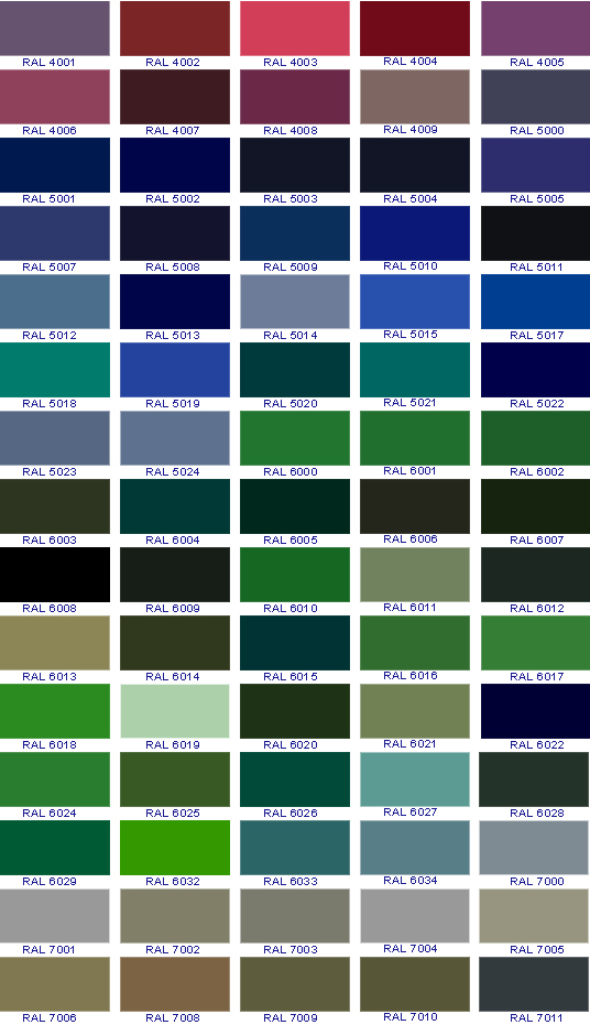 Ral Color Chart Ral Color Chart Conversion Ral Color Chart Download