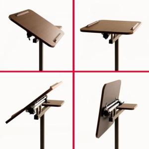 Seville Classics Mobile Laptop Desk Tilt