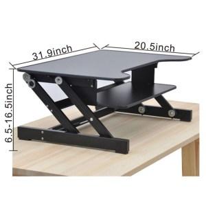 Smonet Height Adjustable Standing Desk Riser Dimensions