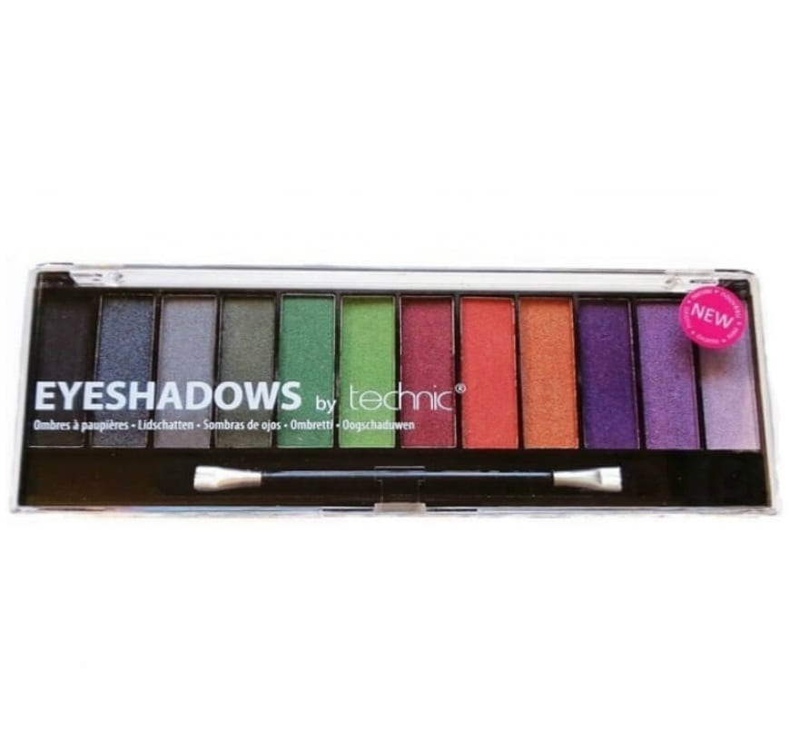 Technic 12 Colours Black Magic Eyeshadow Palette - Colour Zone Cosmetics