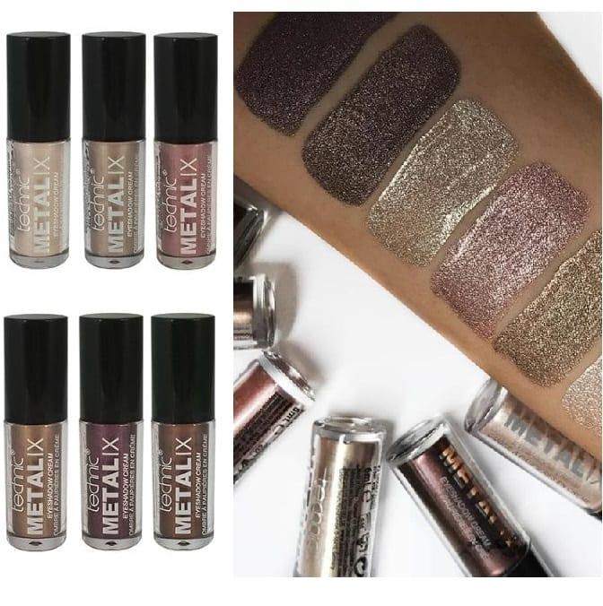 Technic 6pcs Metalix Shimmer Eyeshadow Cream - Colour Zone Cosmetics