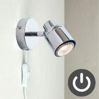 Plug In GU10 Ceiling Indoor Reading Bedside Wall Spot ...