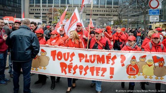 Manifestazione Belgio