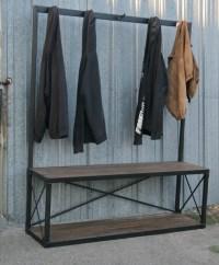 Combine 9   Industrial Furniture  Industrial Coat Rack ...