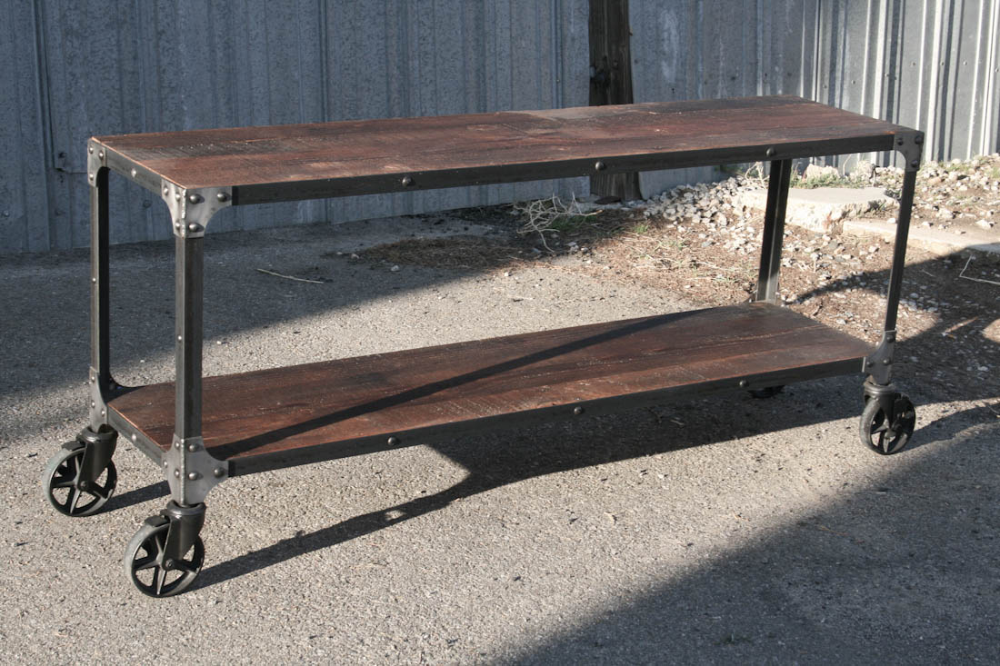 console tables sofa tables kitchen console table Industrial Console Table Modern Cart