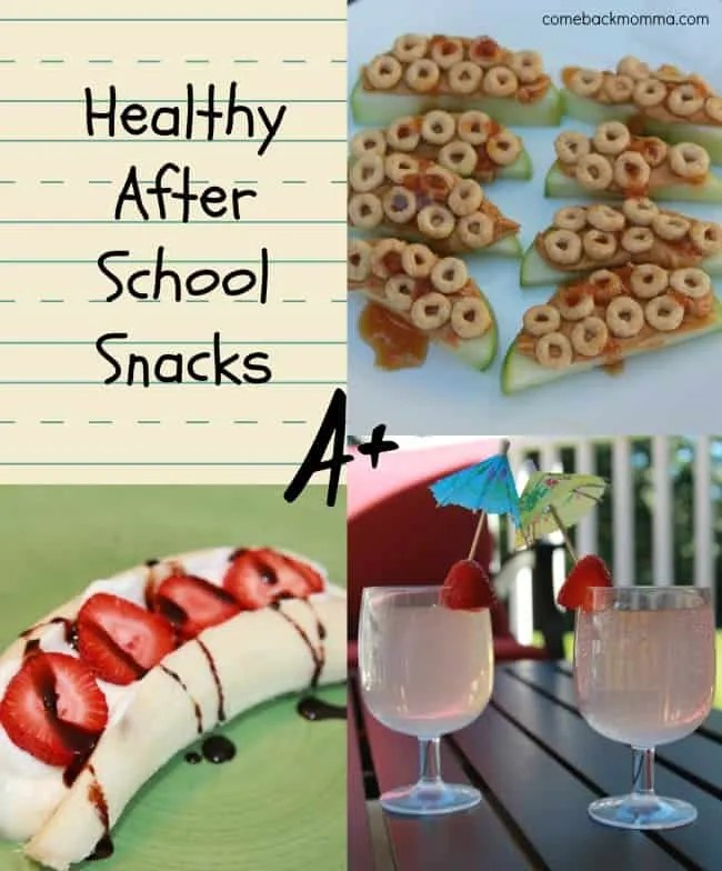 Simple and healthy recipes for after school snacks for Quick healthy snacks to make at home