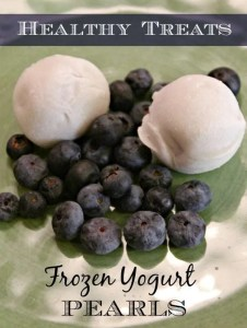 Healthy Treats - Frozen Yogurt Pearls from Stonyfield