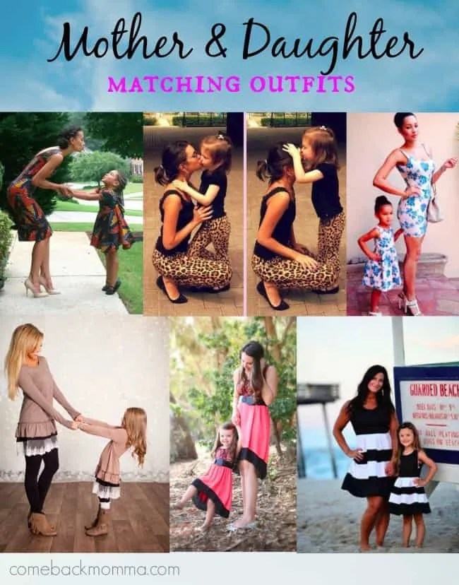 Too Cute! Mother and Daughter Matching Outfits