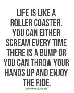 Life is a Roller Coaster – It's Comeback Time Again