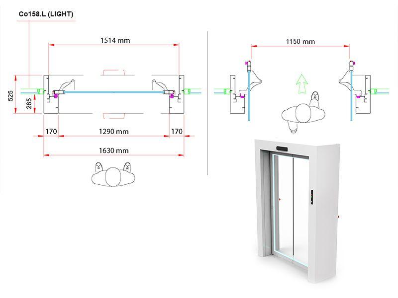 Swinging-sliding Portal Co158L (Light) - Product detail - CoMETA SpA