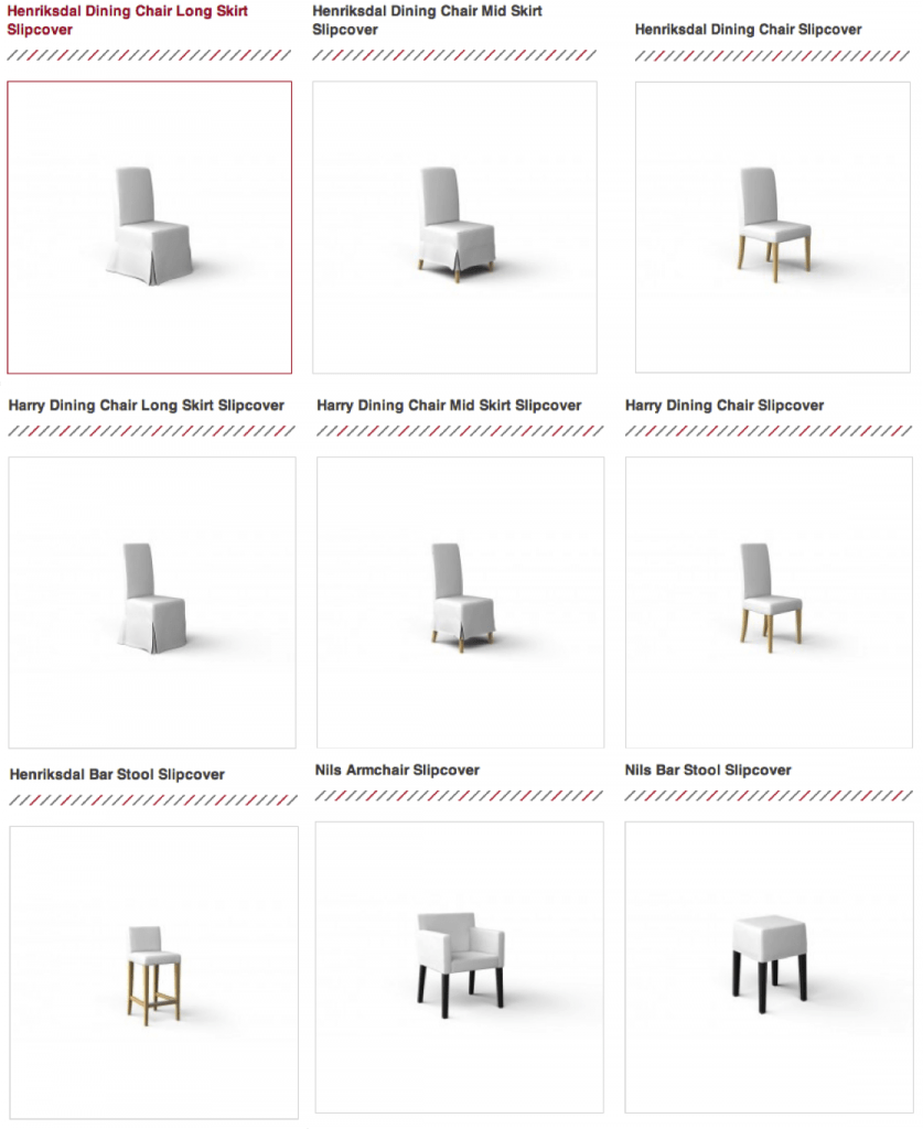 Ikea dining chair slipcovers from comfort works