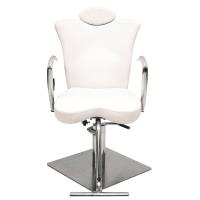 White Leather Makeup Chair - Mugeek Vidalondon