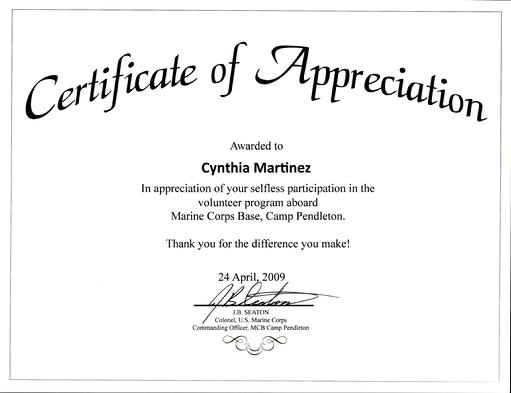 Awards  Recognitions \u2013 Words of Comfort, Hope and Promise - Certificate Of Appreciation Words