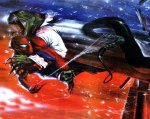 Comic Wall 1280-06 (Spider-Man vs Lizard)