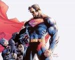 Jim Lee Superman Choking Batman